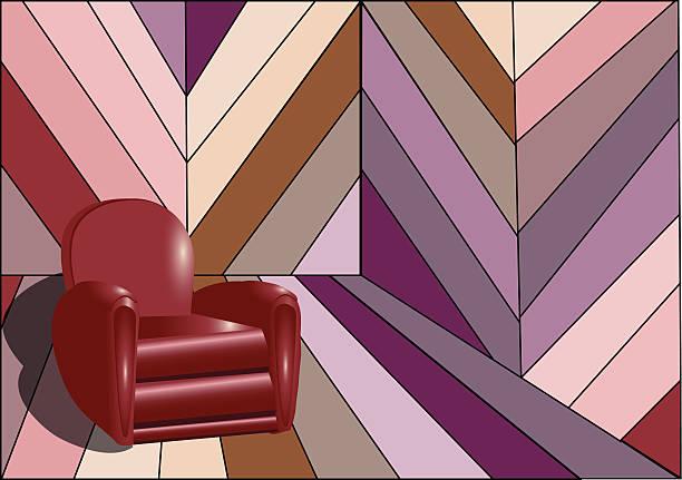 seltsame innenraum mit sessel - stuhllehnen stock-grafiken, -clipart, -cartoons und -symbole