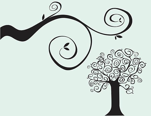 Strange Tree vector art illustration