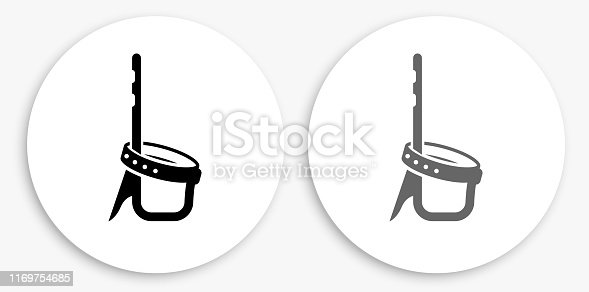 istock Strap Black and White Round Icon 1169754685