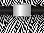 Strap on the background of a zebra