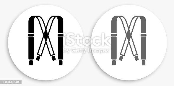 istock Straps Black and White Round Icon 1163026481