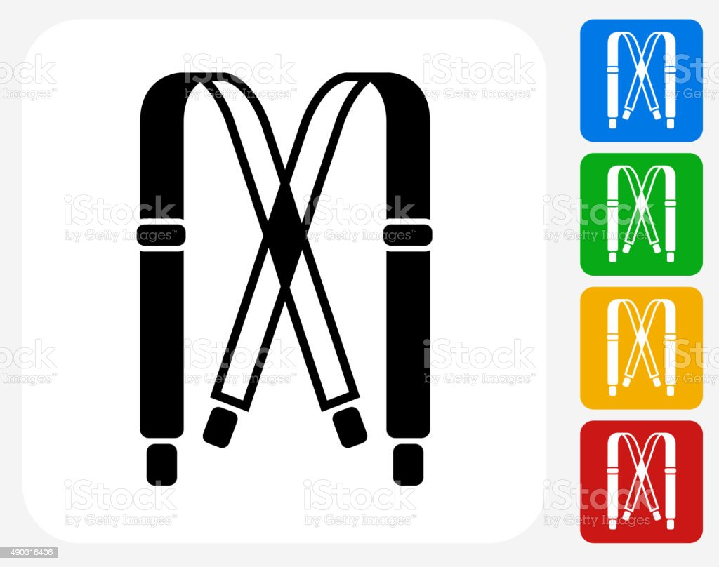 Straps Icon Flat Graphic Design vector art illustration