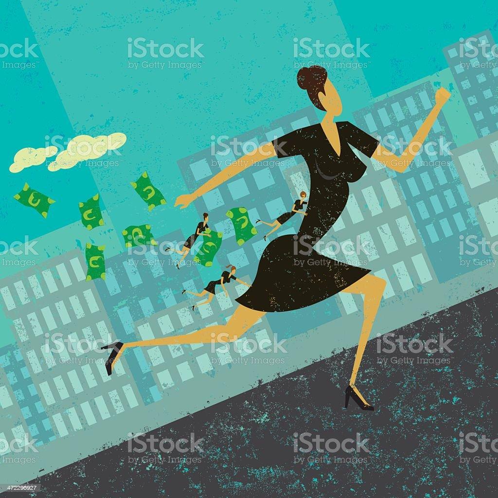 Strategic Business Alliance vector art illustration