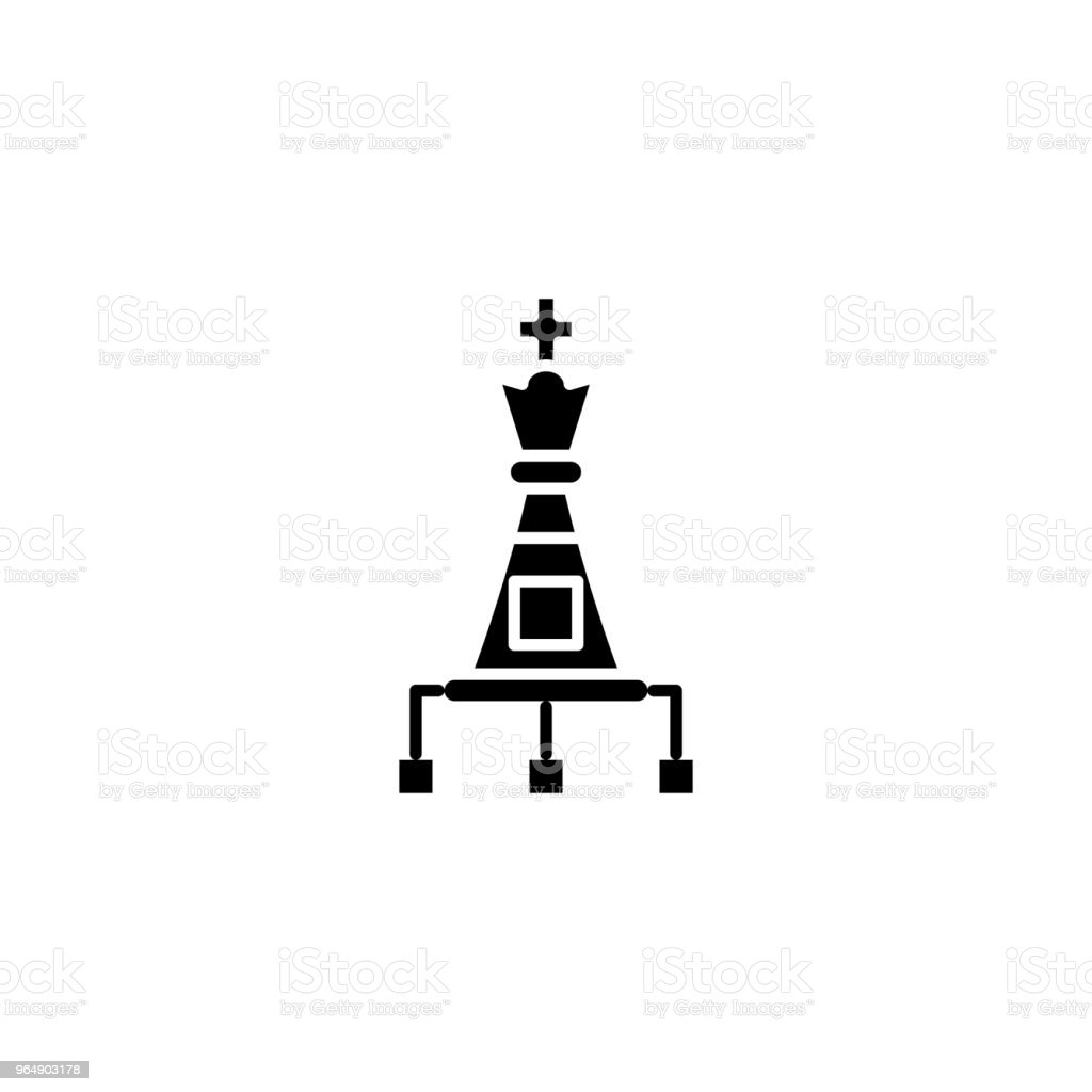 Strategic options black icon concept. Strategic options flat  vector symbol, sign, illustration. royalty-free strategic options black icon concept strategic options flat vector symbol sign illustration stock vector art & more images of awards ceremony