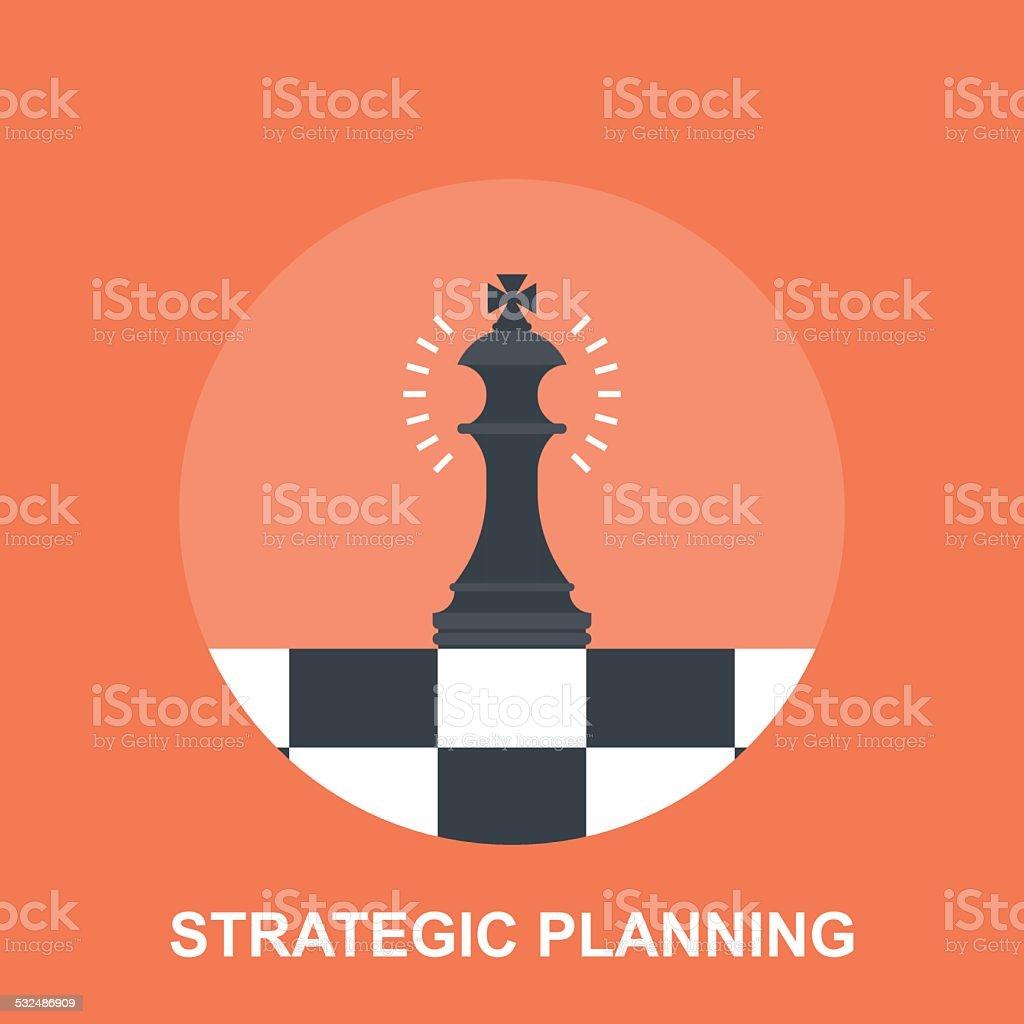 Strategic Planing vector art illustration