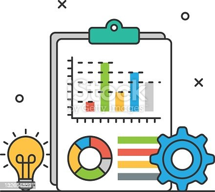 istock Strategic report Concept, Financial Reporting Vector Icon Design, Business Strategy Symbol, Marketing plan Sign, administration and operational management Stock illustration 1326648591