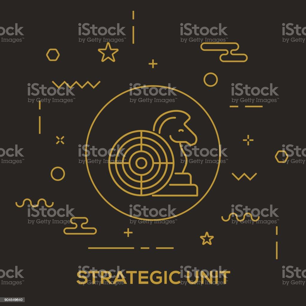 Strategic Unit Concept vector art illustration