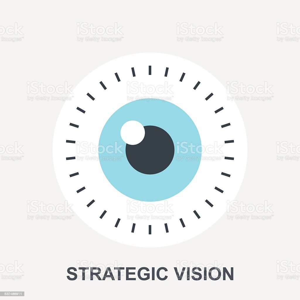 Strategic Vision vector art illustration