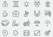 Strategy and Business Line Icons