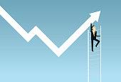 Chart, Line Graph, Staircase, Stock Market Data, Data
