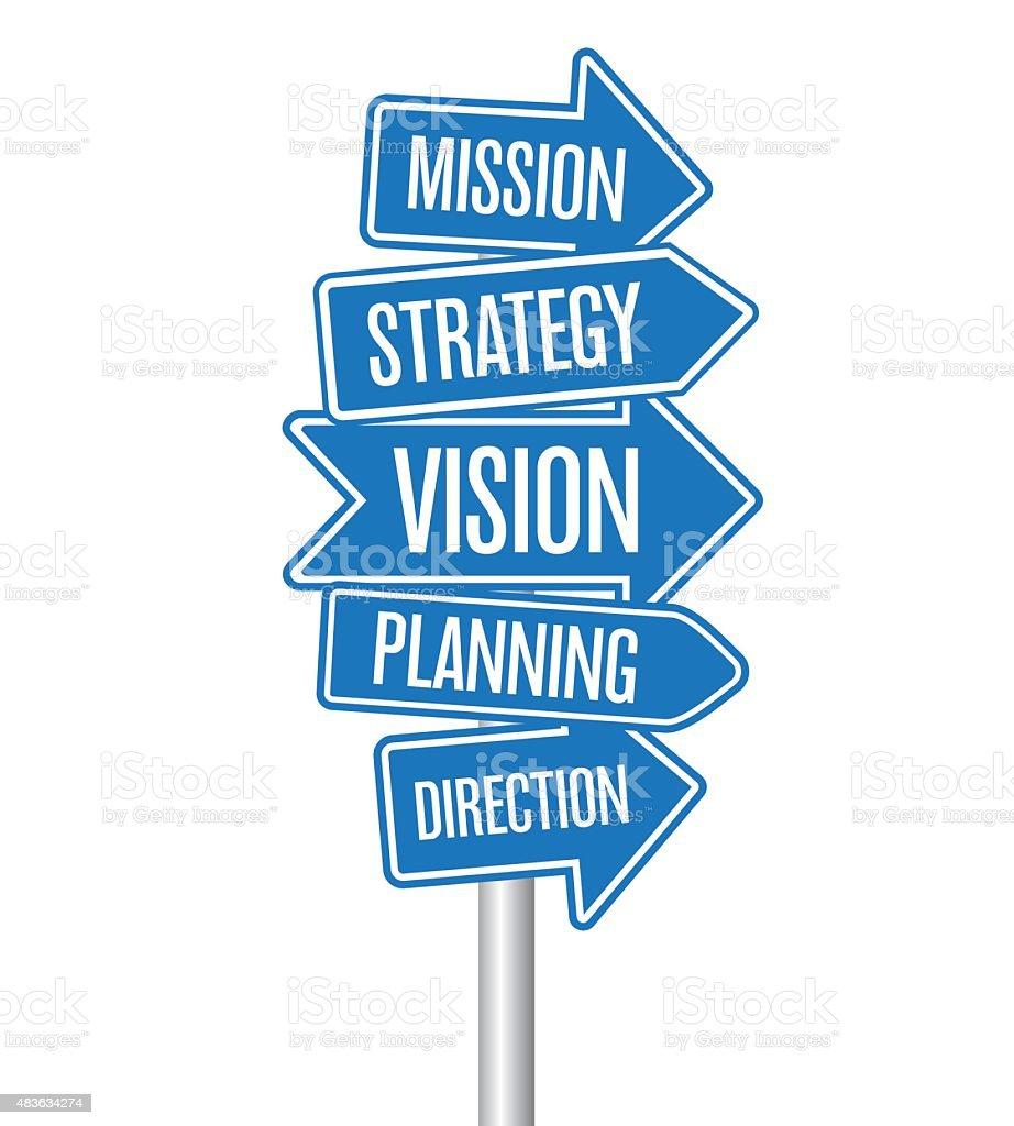 Strategy arrows vector art illustration