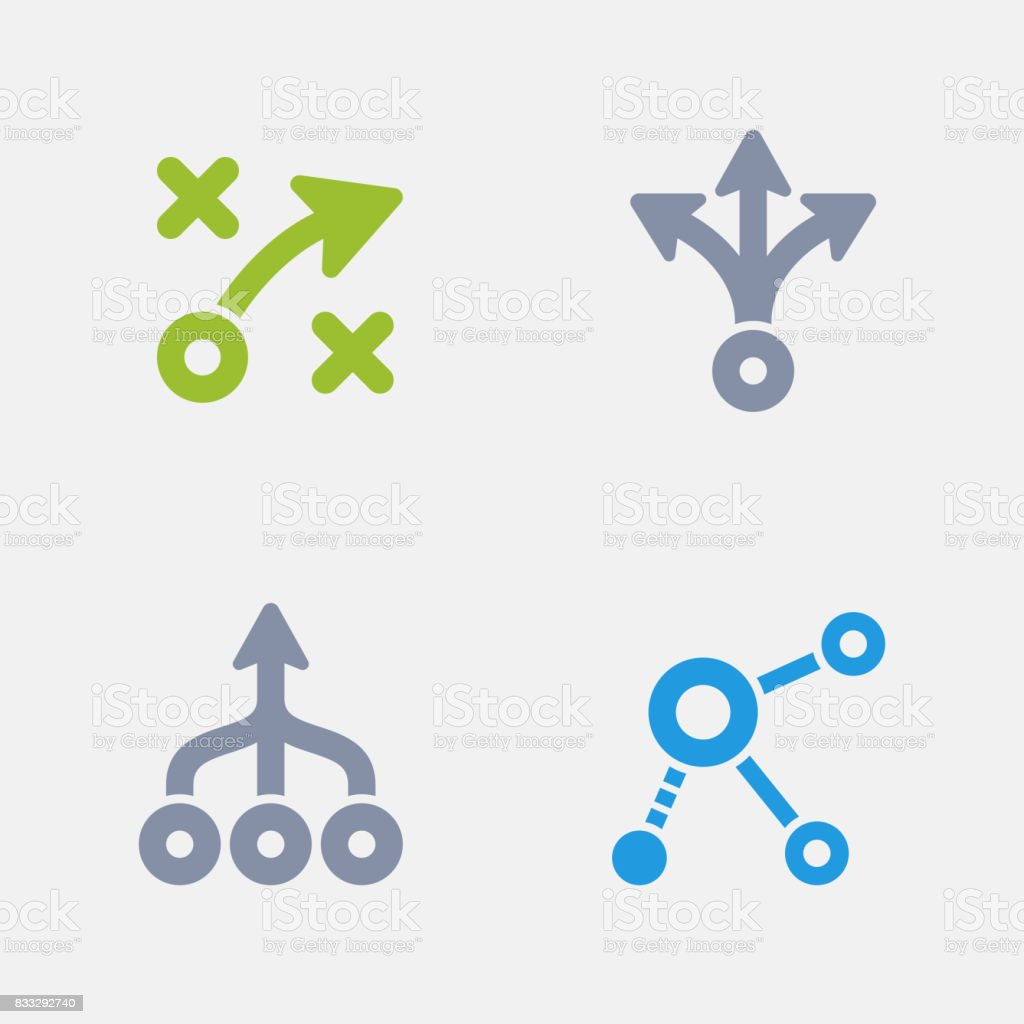 Strategy Diagrams - Granite Icons vector art illustration