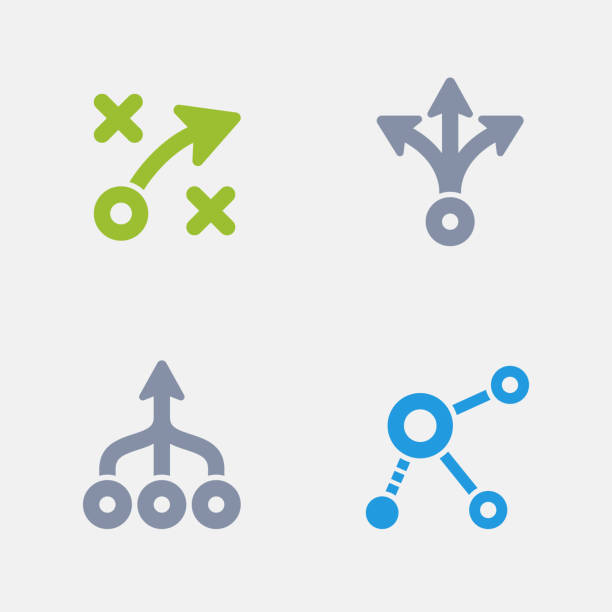 Strategy Diagrams - Granite Icons A set of 4 professional, pixel-perfect icons designed on a 32x32 pixel grid. choice stock illustrations