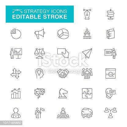 Business and Finance, Handshake, Currency, Presentation - Speech, Editable Line Icon Set