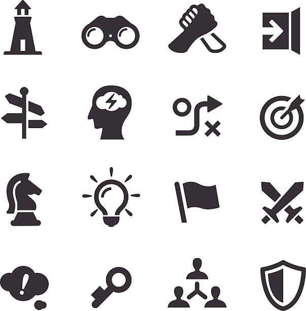 bildbanksillustrationer, clip art samt tecknat material och ikoner med strategy icons - acme series - häst tävling