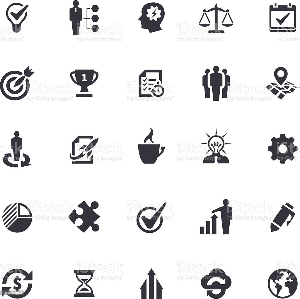 Strategy Icons vector art illustration