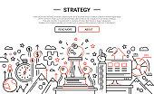 Strategy - line design website banner temlate