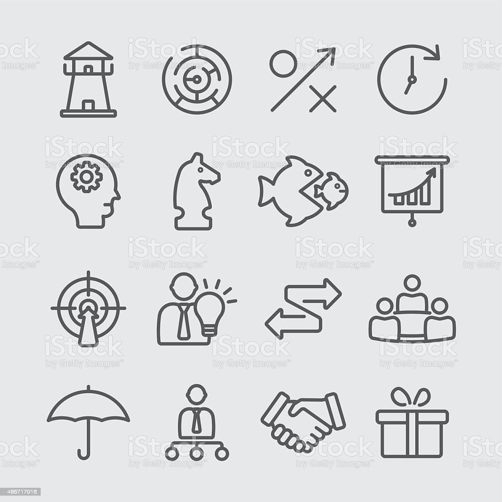 Strategy line icon vector art illustration