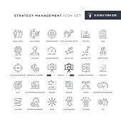 29 Strategy Management Icons - Editable Stroke - Easy to edit and customize - You can easily customize the stroke with