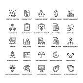 Strategy Management Icon Set stock illustration