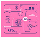 Vector Infographic Line Design Elements for Strategy