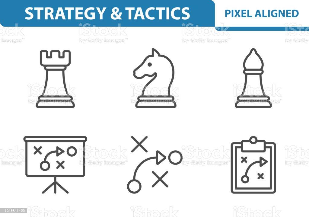 Strategy & Tactics Icons vector art illustration