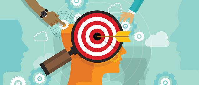 Strategy Target Positioning In Consumer Customer Mind Marketing Market Concept Stock Illustration - Download Image Now