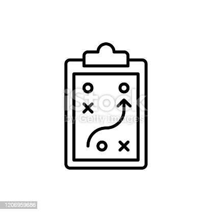 Strategy Vector Icon Line Style Illustration EPS 10 File