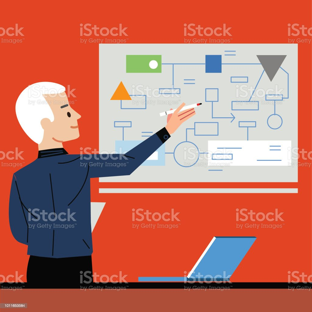 Strategy vector art illustration