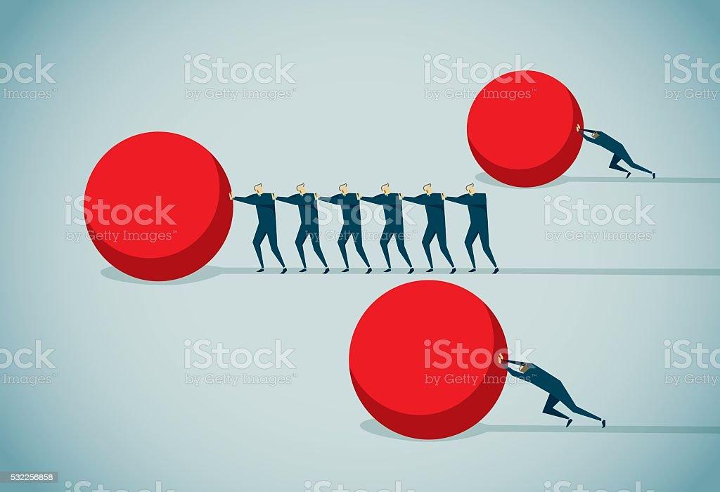 Strategy vector art illustration