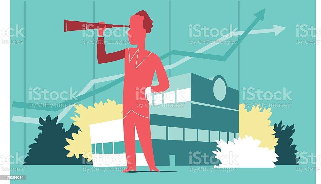 Strategy Vision vector art illustration