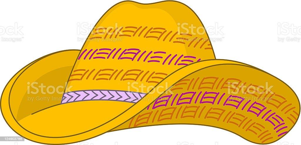 Straw hat vector art illustration