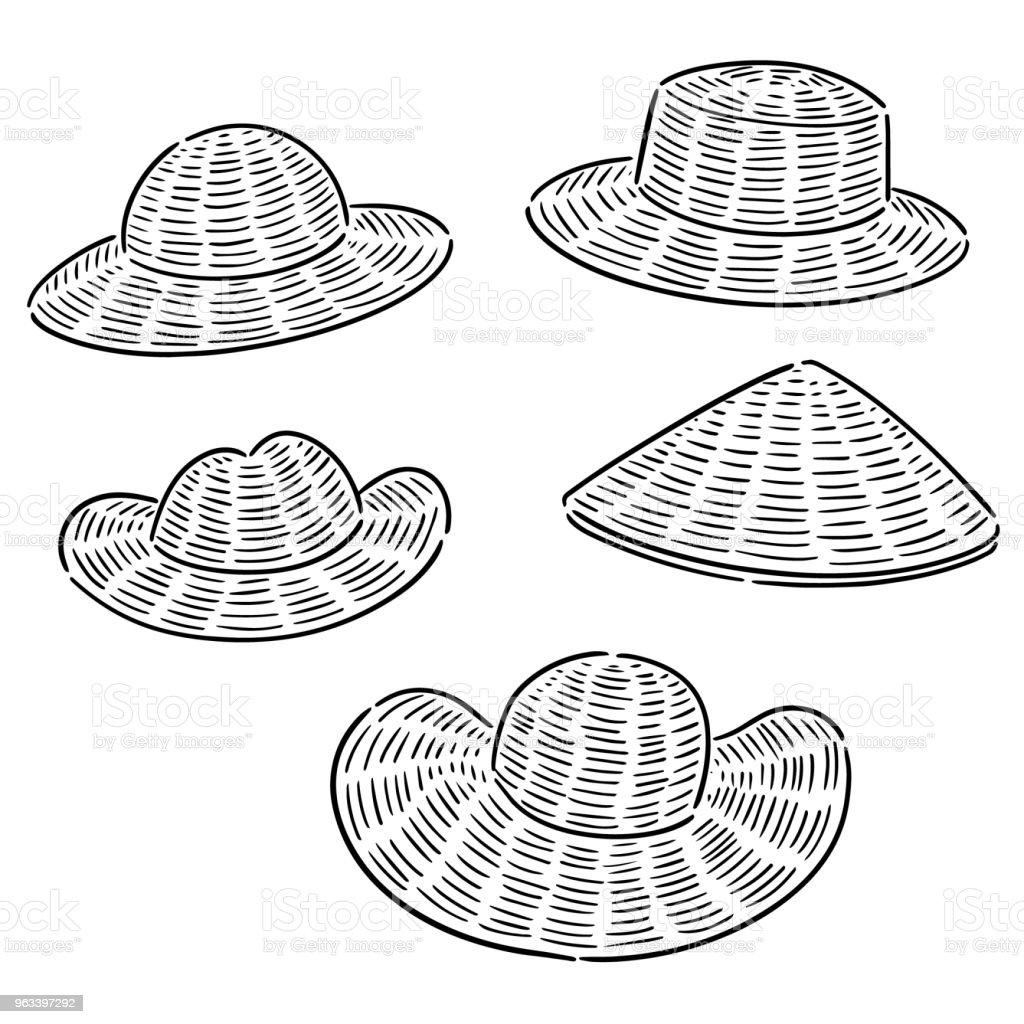 straw hat - Grafika wektorowa royalty-free (Akcesorium osobiste)