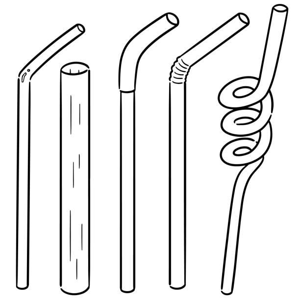 straw – artystyczna grafika wektorowa