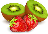 Strawberries amd kiwi