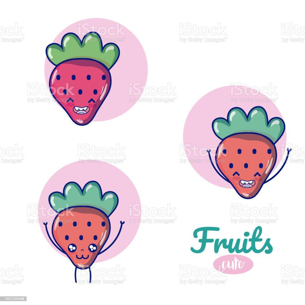 いちごかわいい果物漫画 アイコンのベクターアート素材や画像を多数ご用意 Istock