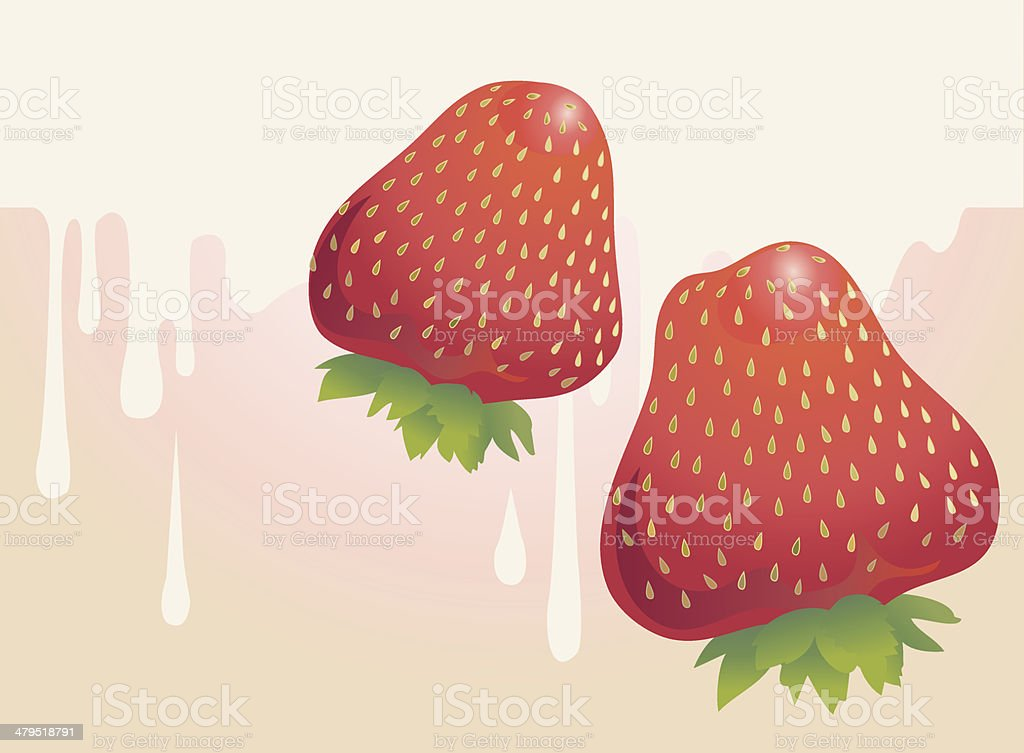 Strawberries royalty-free strawberries stock vector art & more images of backgrounds