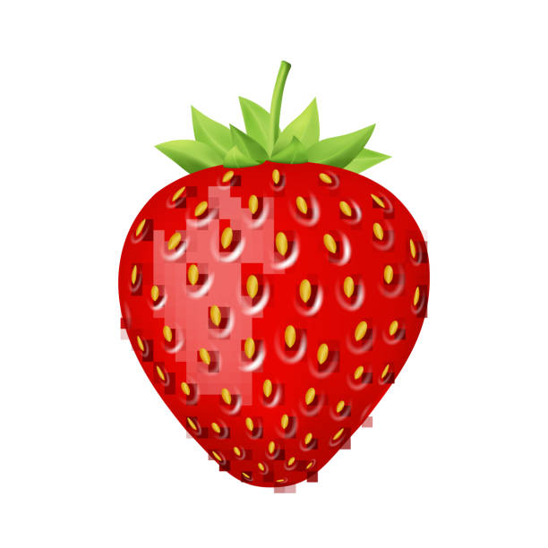 illustrazioni stock, clip art, cartoni animati e icone di tendenza di strawberry 3d vector icon. - fragole