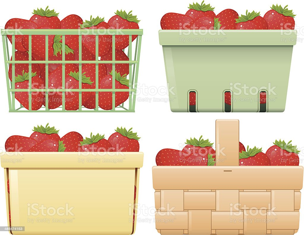 royalty free berry basket clip art vector images