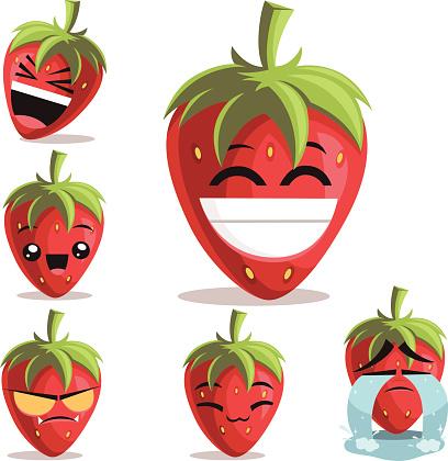 Strawberry Cartoon Set B