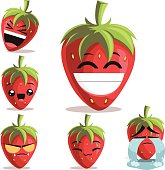 Strawberry Cartoon Set B