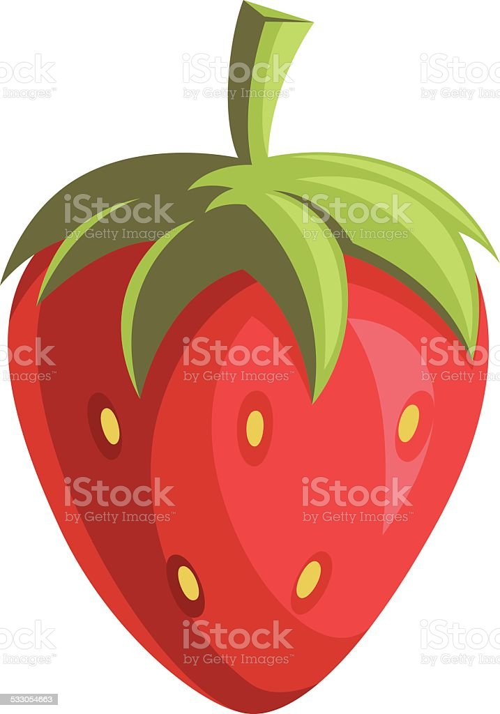 Strawberry Cartoon vector art illustration