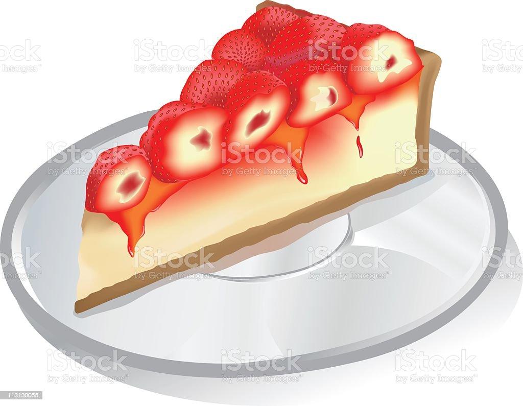 Strawberry Cheese Cake royalty-free stock vector art