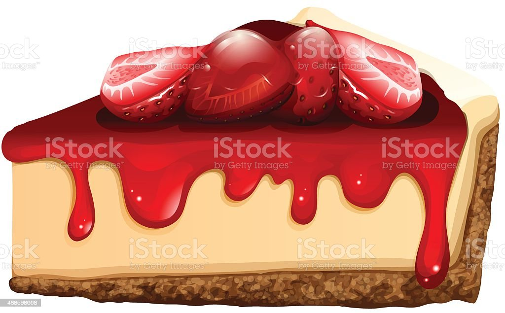 Cartoon Jelly Cake Recipe: Top Cheesecake Clip Art, Vector Graphics And Illustrations