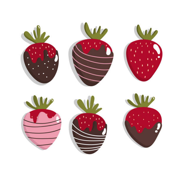 243 Chocolate Dipped Strawberry Illustrations Clip Art Istock