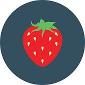Strawberry Colored Vector Icon