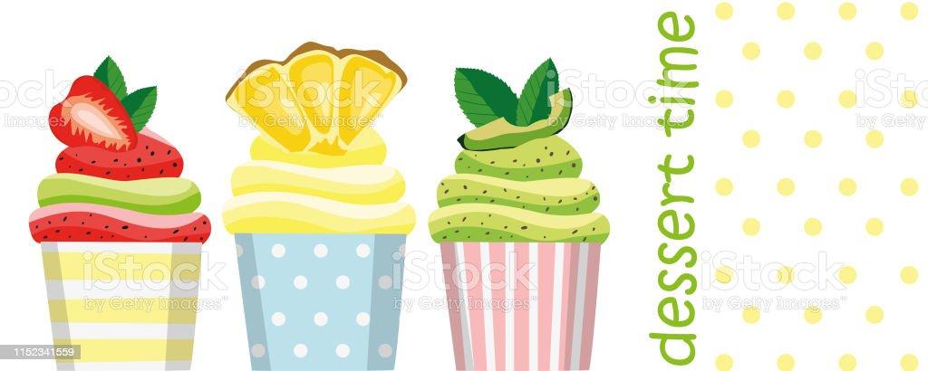 Strawberry Cupcake Pineapple Cupcake Avocado Cupcake On A