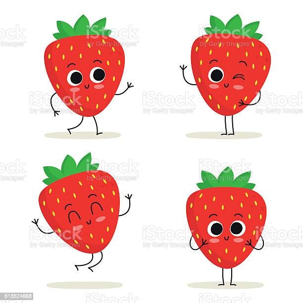 Strawberry cute fruit character set isolated on white vector id515524668?b=1&k=6&m=515524668&s=612x612&h=svoxok6ijsc0xfpm3nvvamg8gnwt4uo39zr8vmfsopq=