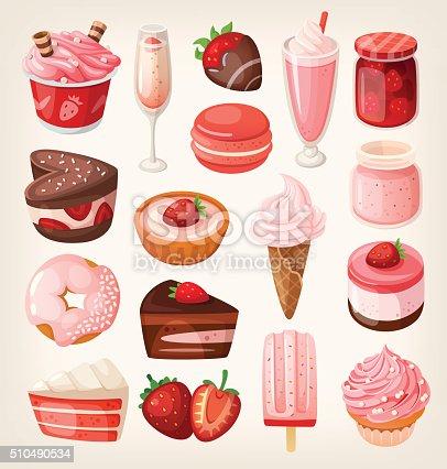 istock Strawberry desserts 510490534