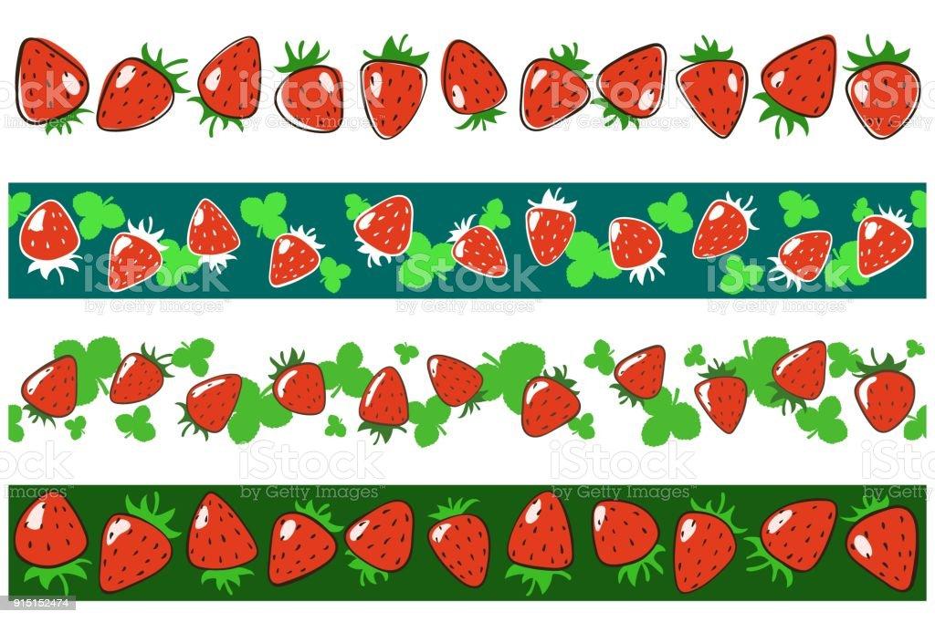 top 60 strawberry border clip art vector graphics and illustrations rh istockphoto com